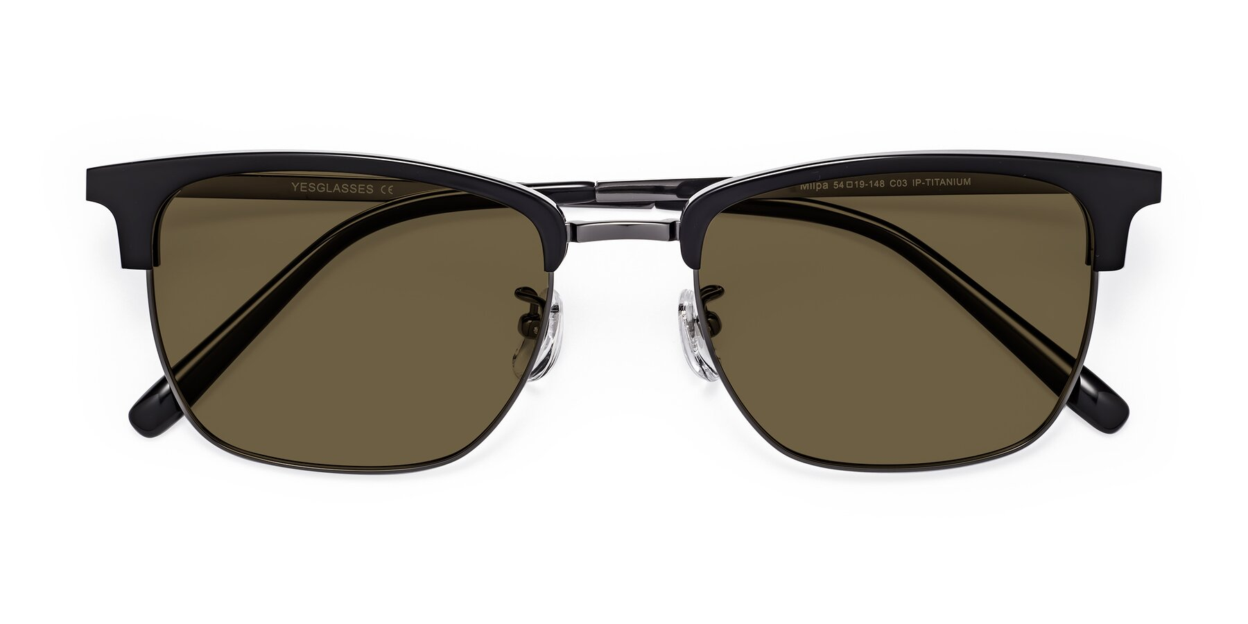 Folded Front of Milpa in Black-Gun with Brown Polarized Lenses