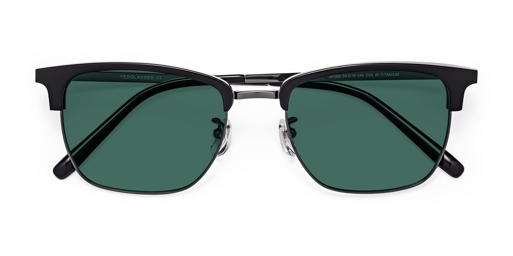 Folded Front of Milpa in Black-Gun with Green Polarized Lenses