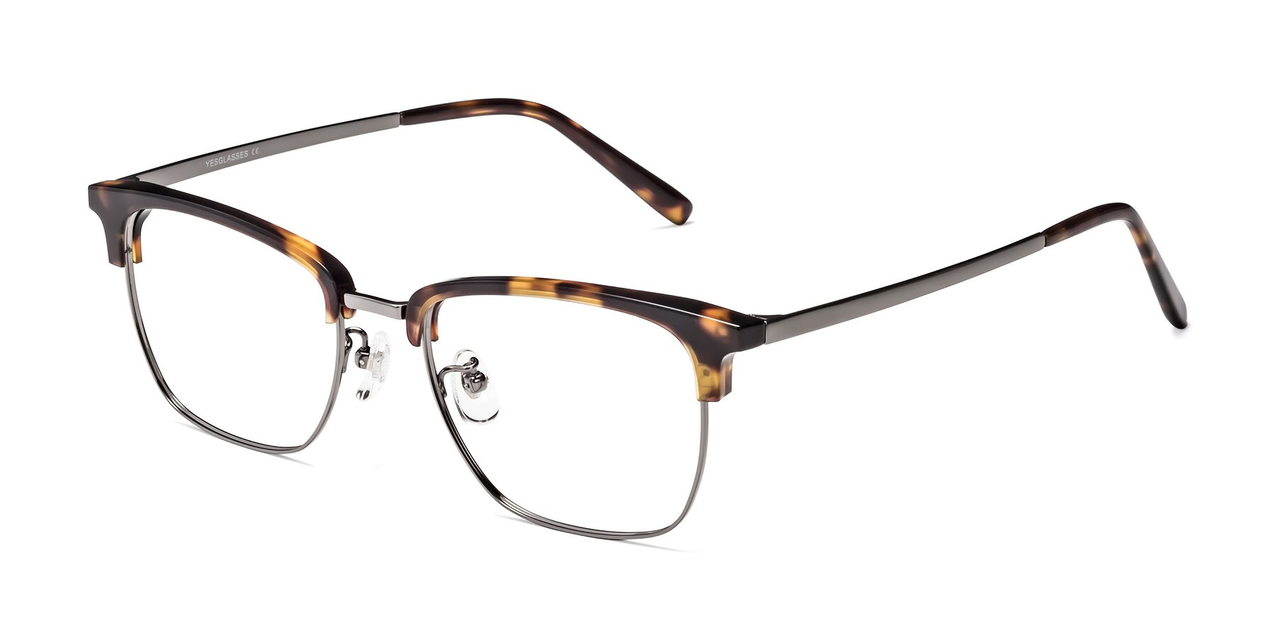 Angle of Milpa in Tortoise with Clear Eyeglass Lenses