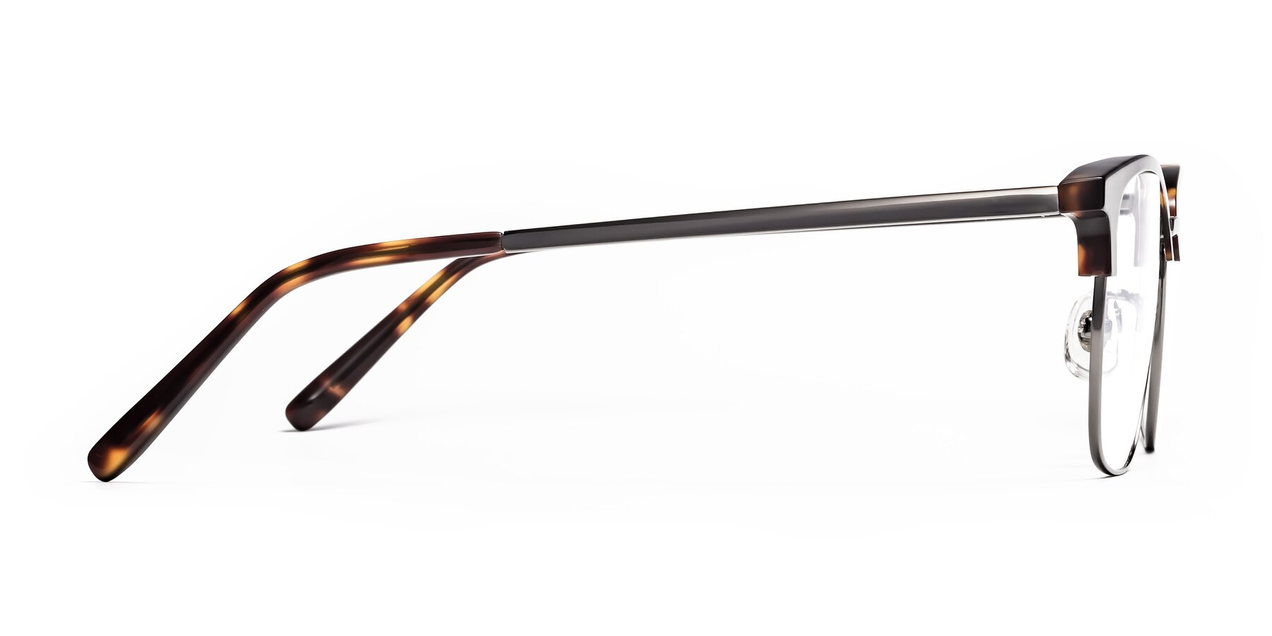 Side of Milpa in Tortoise with Clear Blue Light Blocking Lenses