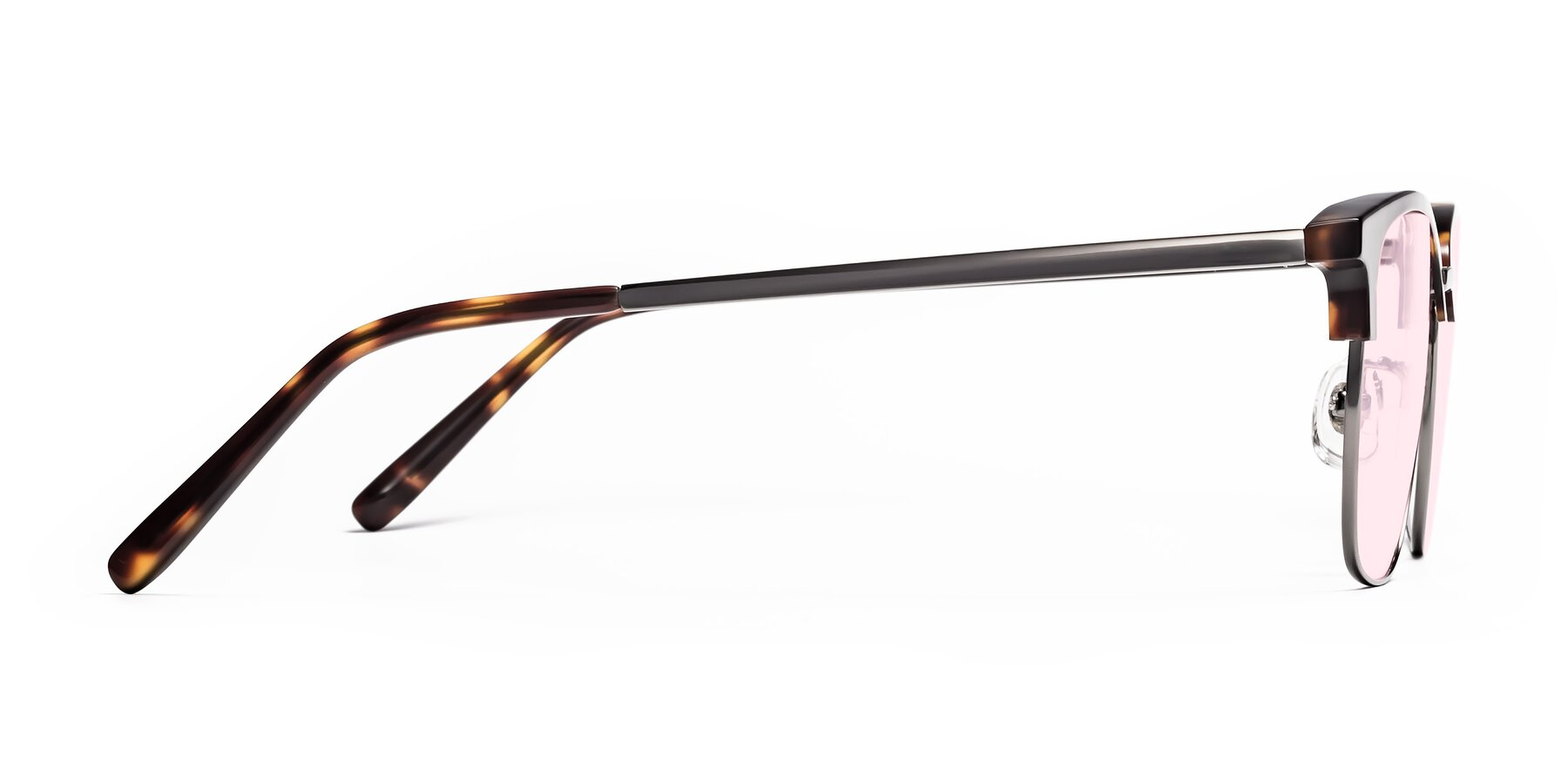 Side of Milpa in Tortoise with Light Pink Tinted Lenses