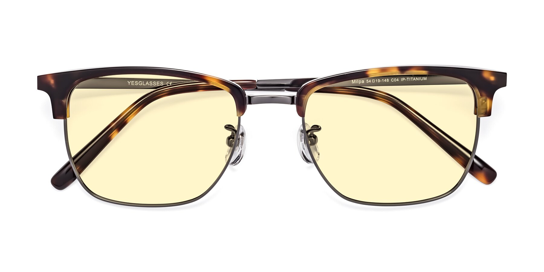 Folded Front of Milpa in Tortoise with Light Yellow Tinted Lenses
