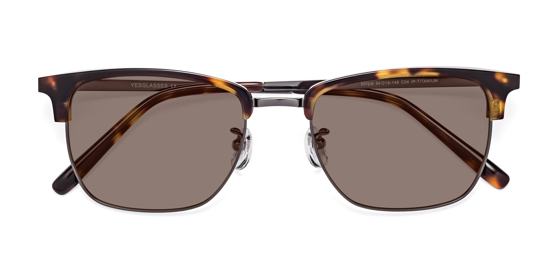 Folded Front of Milpa in Tortoise with Medium Brown Tinted Lenses