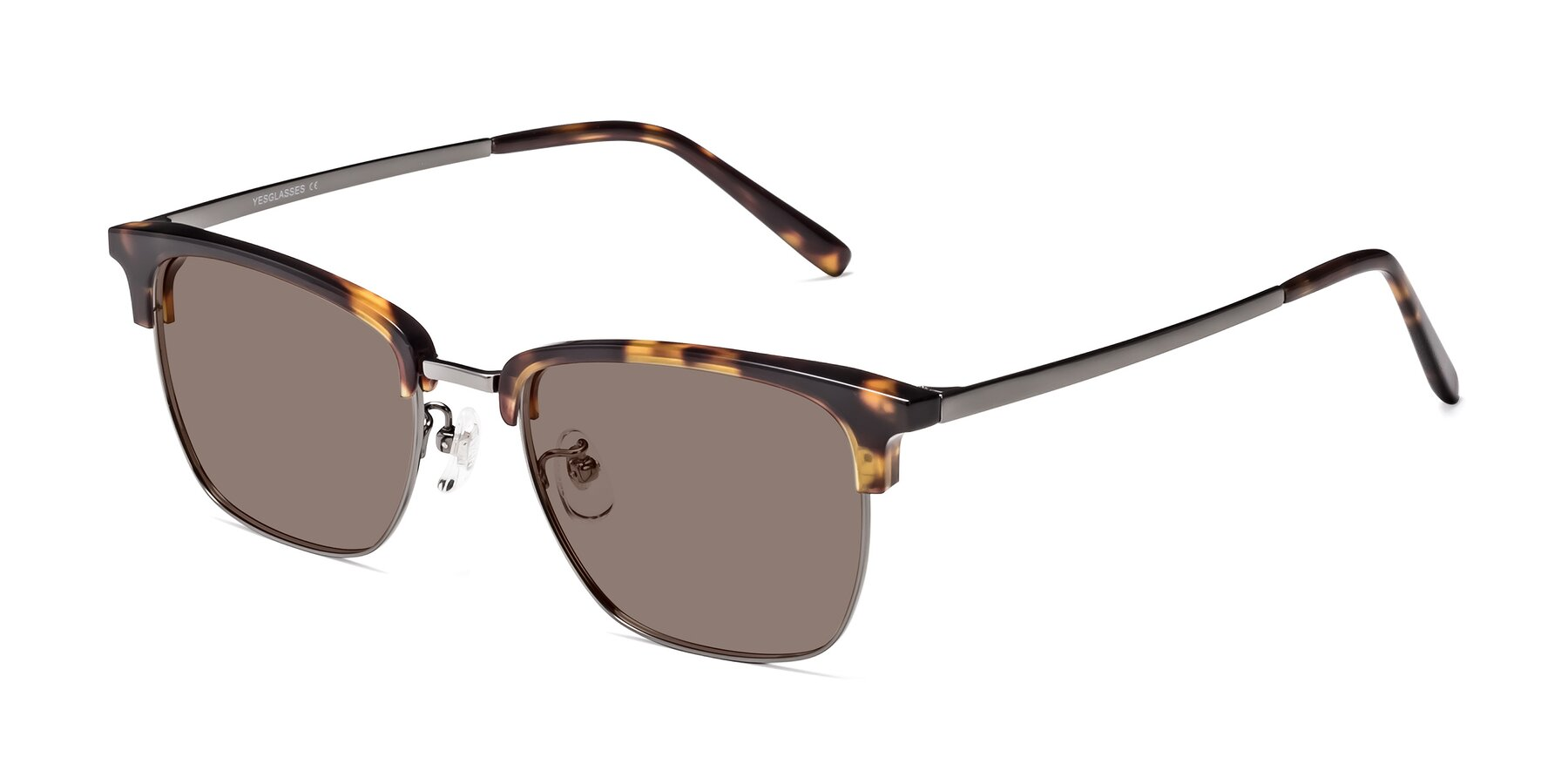 Angle of Milpa in Tortoise with Medium Brown Tinted Lenses