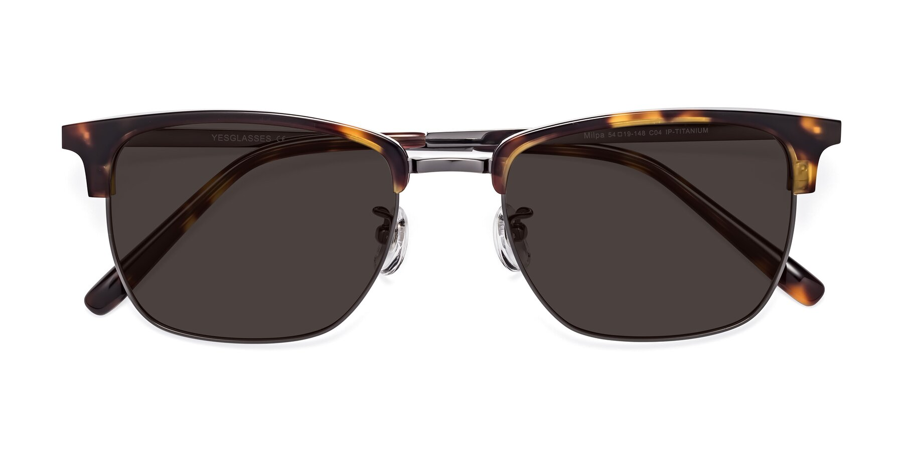 Folded Front of Milpa in Tortoise with Gray Tinted Lenses