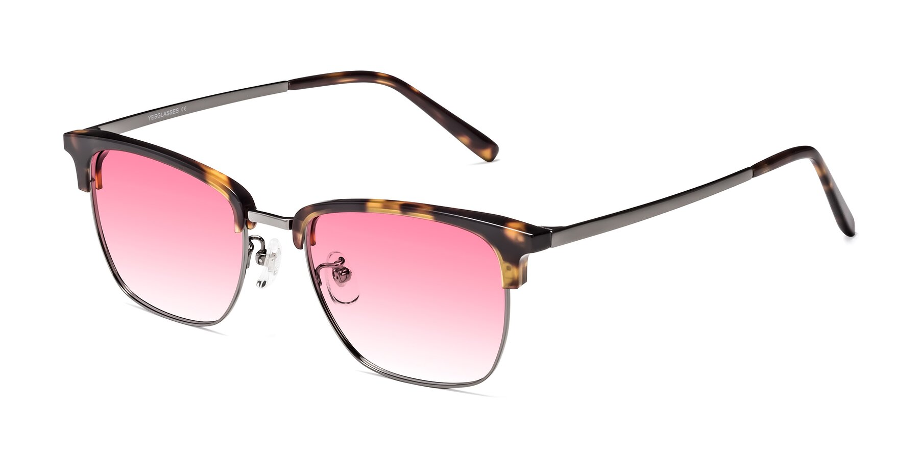 Angle of Milpa in Tortoise with Pink Gradient Lenses