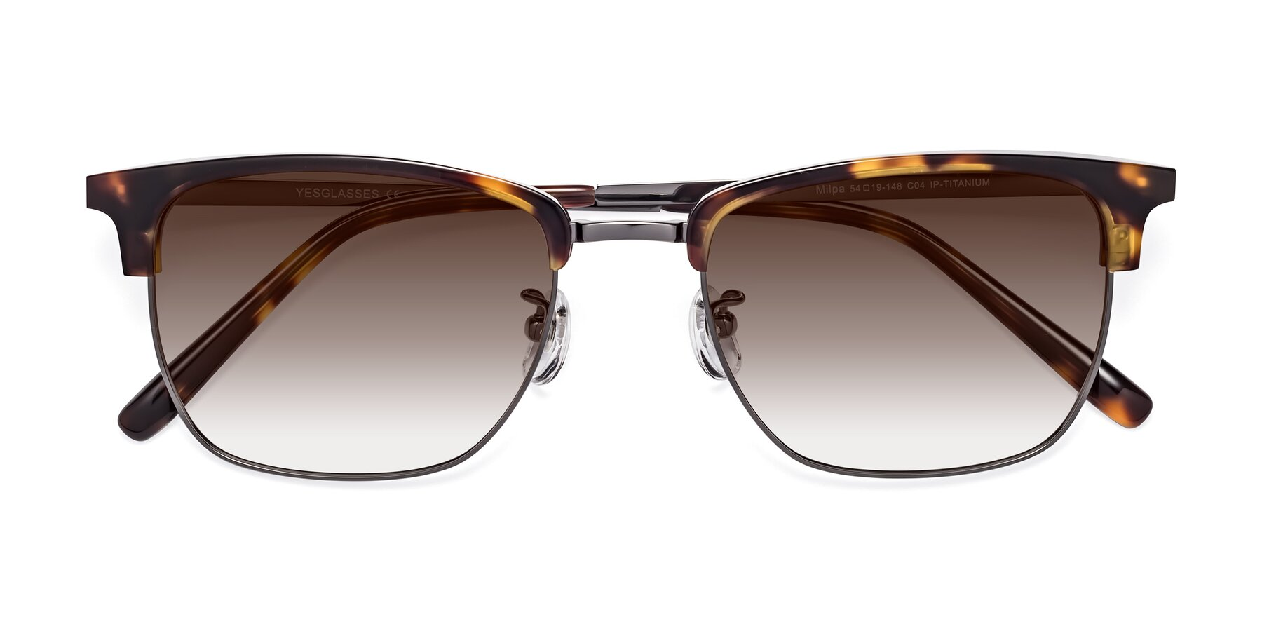 Folded Front of Milpa in Tortoise with Brown Gradient Lenses