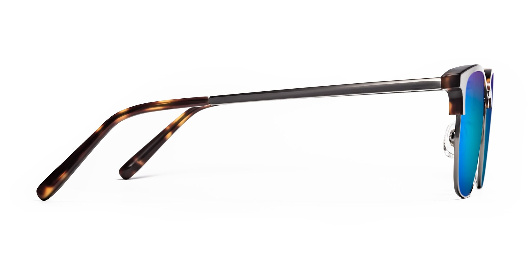Side of Milpa in Tortoise with Blue Mirrored Lenses