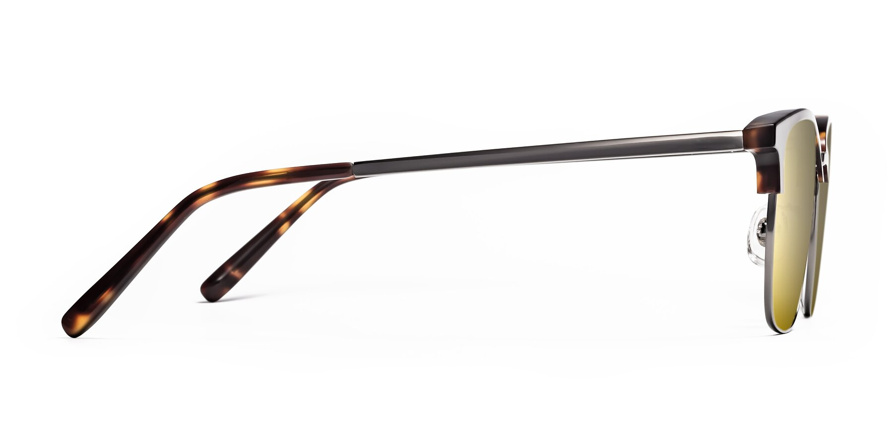 Side of Milpa in Tortoise with Gold Mirrored Lenses
