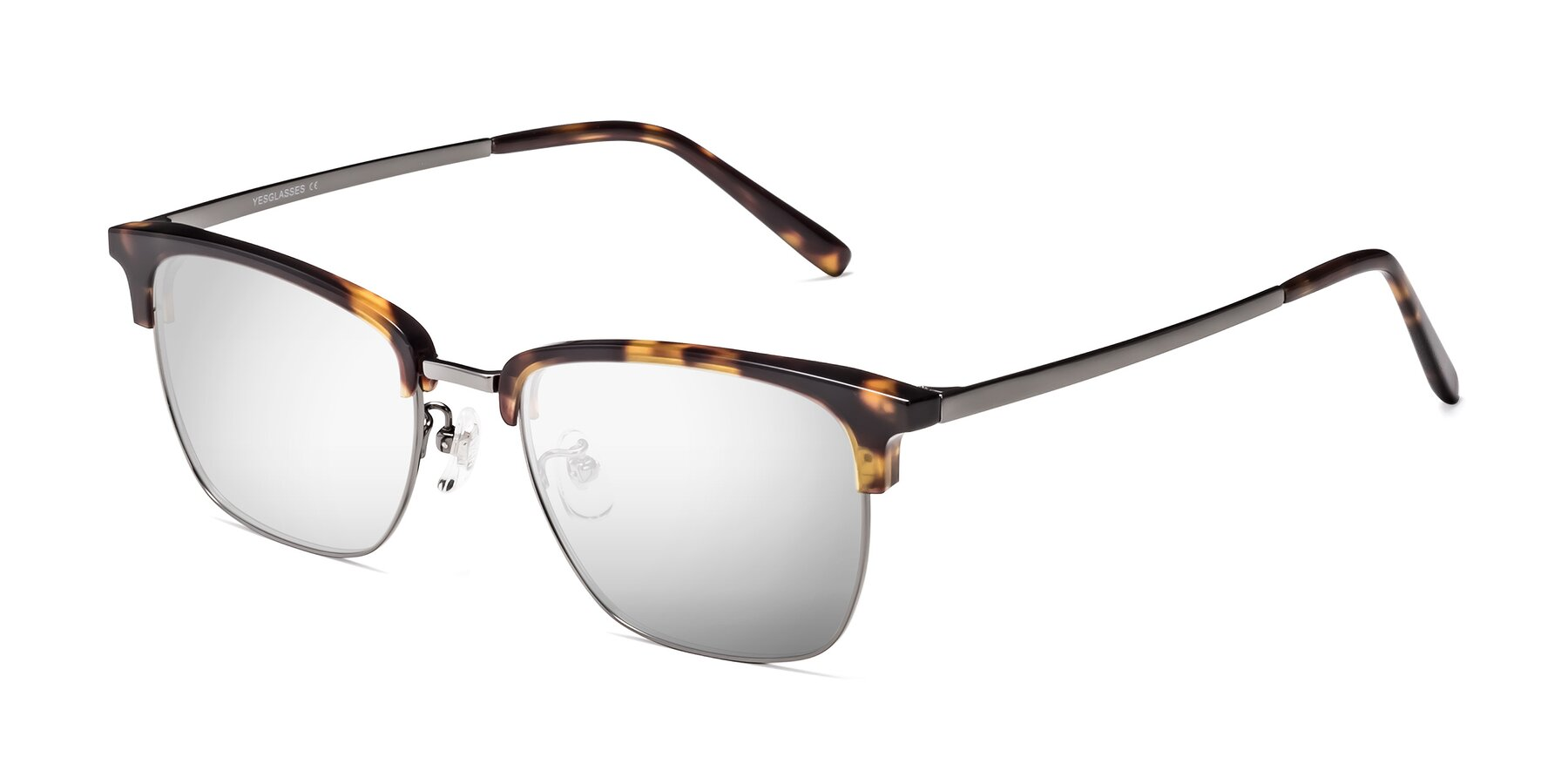 Angle of Milpa in Tortoise with Silver Mirrored Lenses