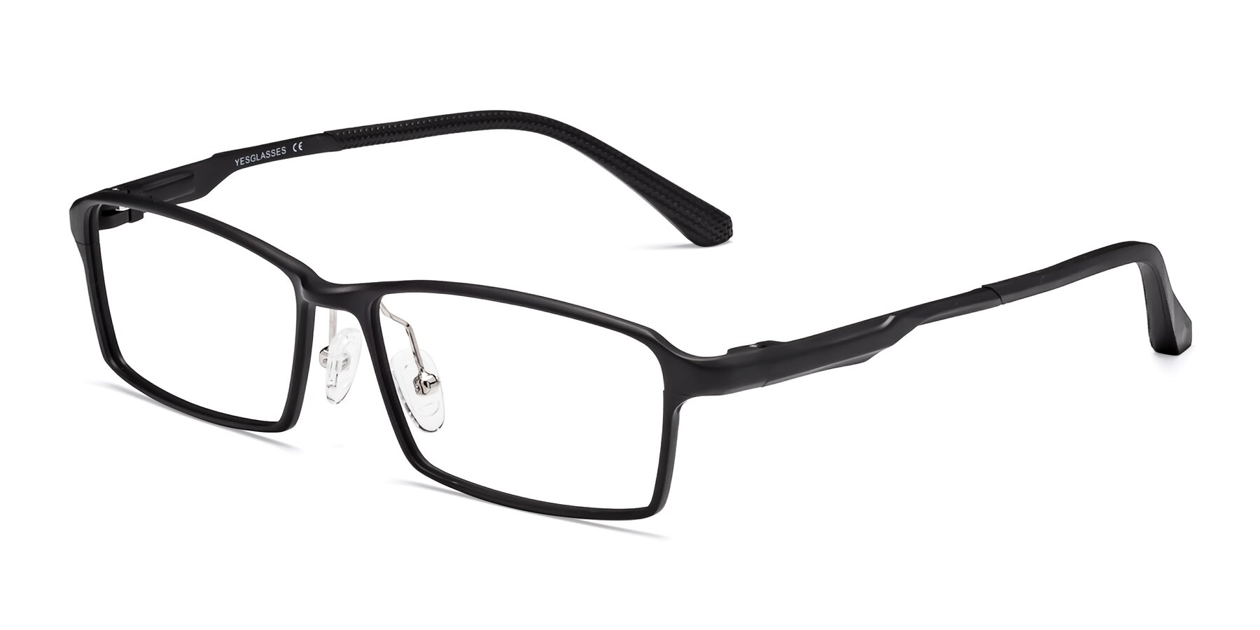 Angle of CX6287 in Black with Clear Blue Light Blocking Lenses