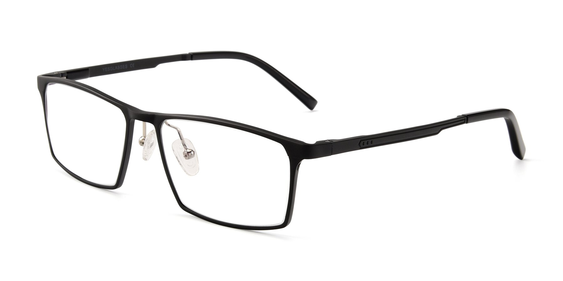 Angle of CX6341 in Black with Clear Eyeglass Lenses
