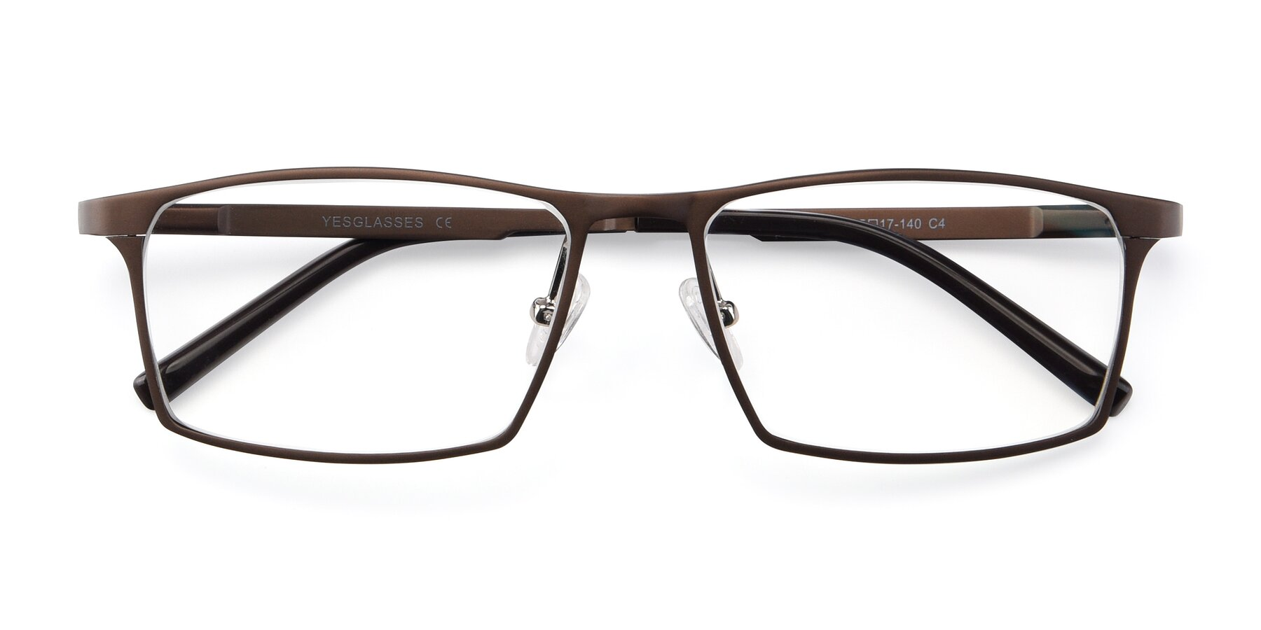 Folded Front of CX6341 in Coffee with Clear Blue Light Blocking Lenses