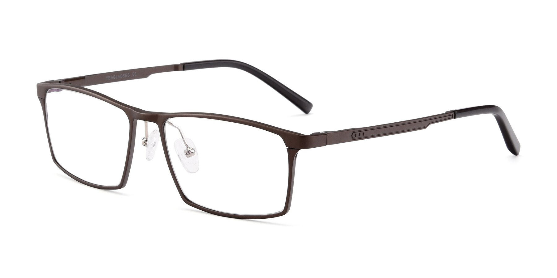 Angle of CX6341 in Coffee with Clear Blue Light Blocking Lenses