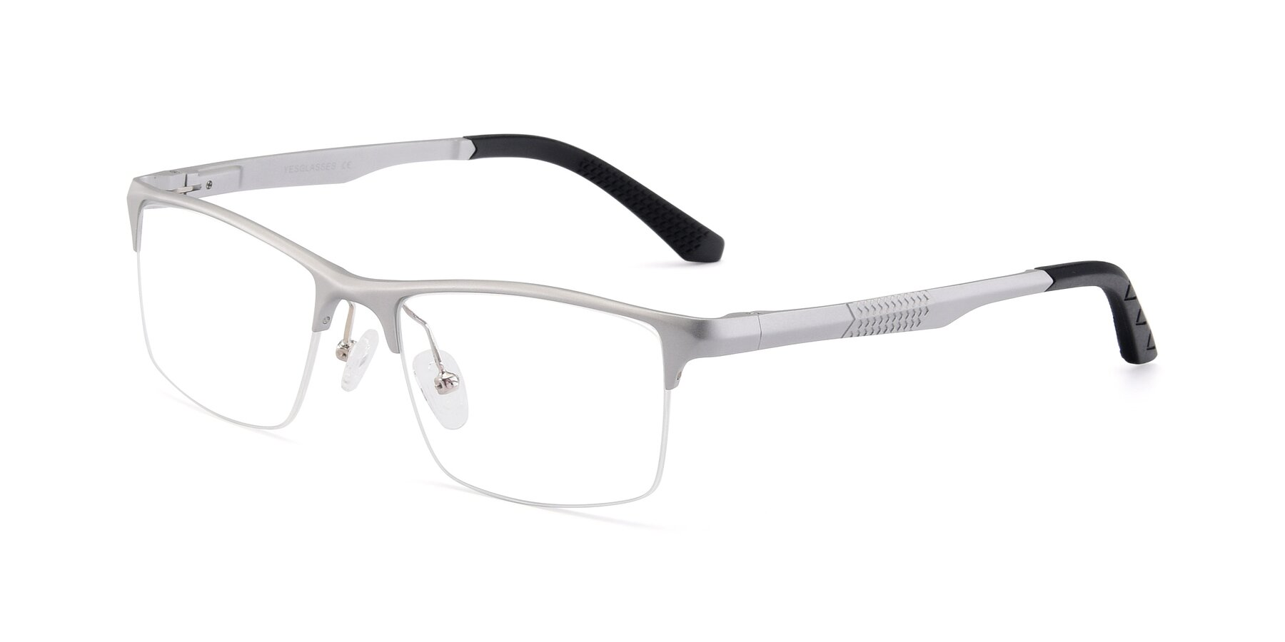 Angle of XL9021 in Silver with Clear Blue Light Blocking Lenses