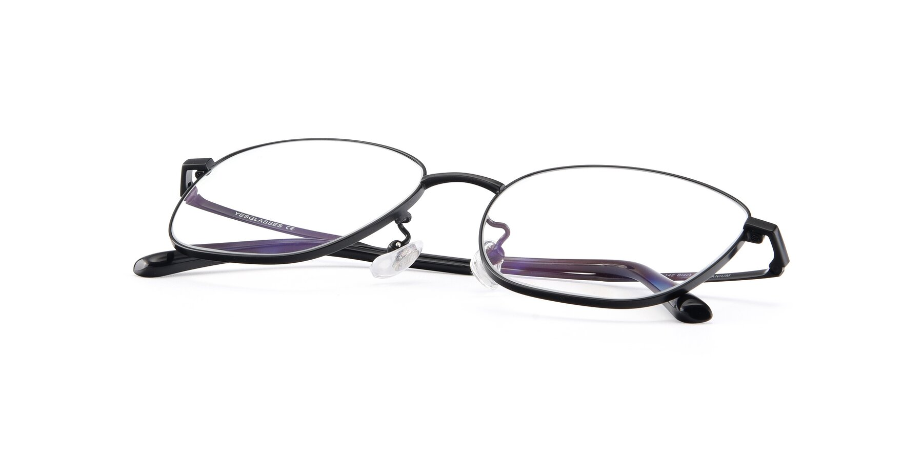 View of Tim in Black with Clear Eyeglass Lenses