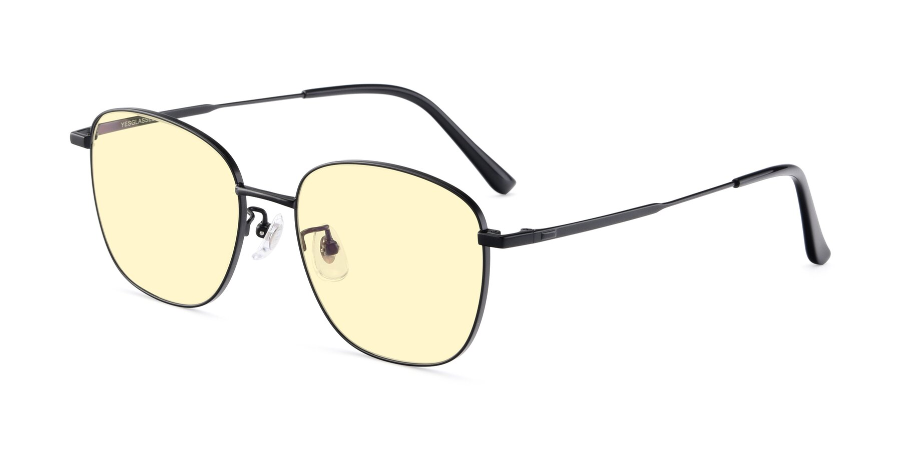 Angle of Tim in Black with Light Yellow Tinted Lenses