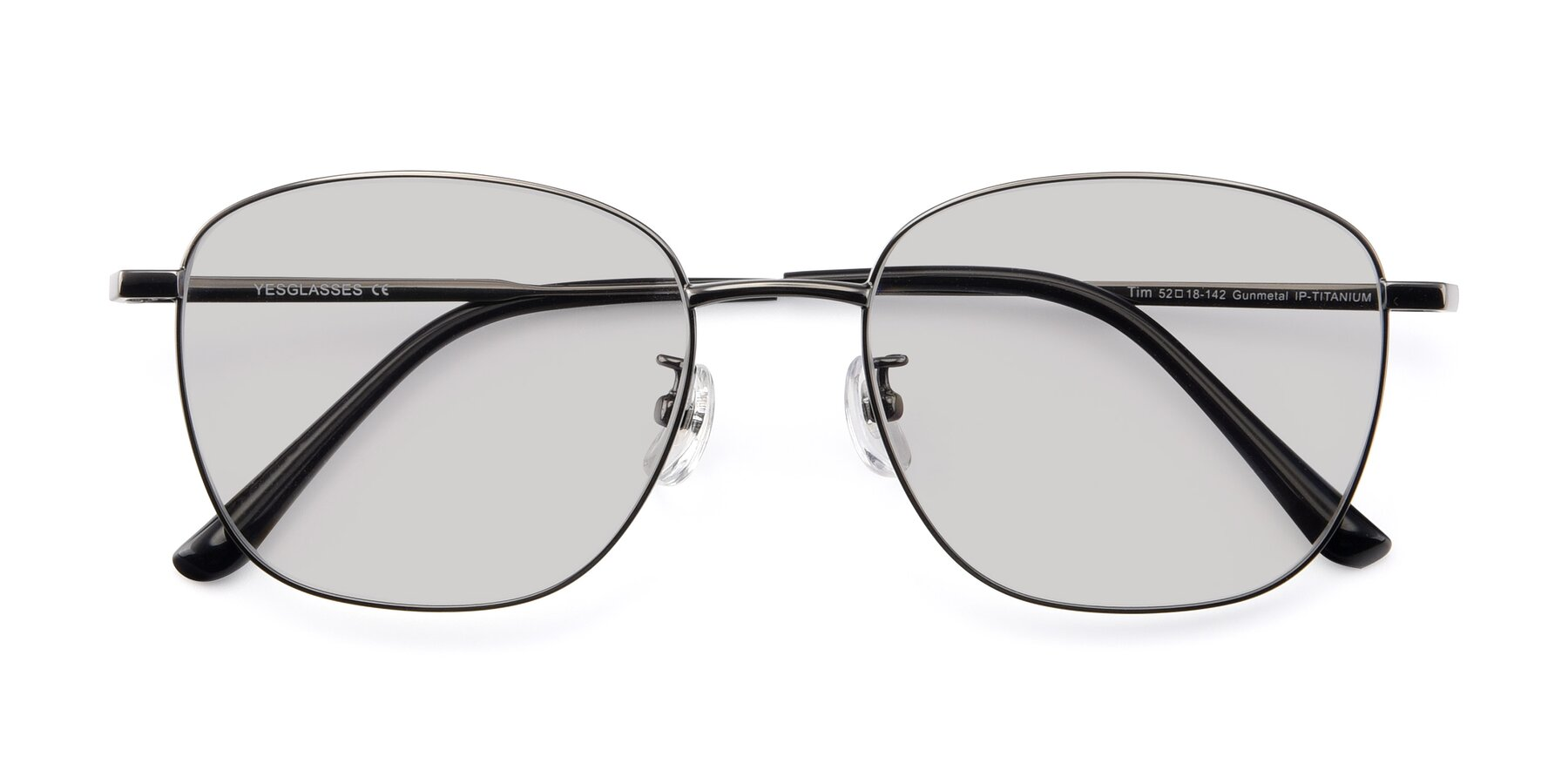 Folded Front of Tim in Gunmental with Light Gray Tinted Lenses