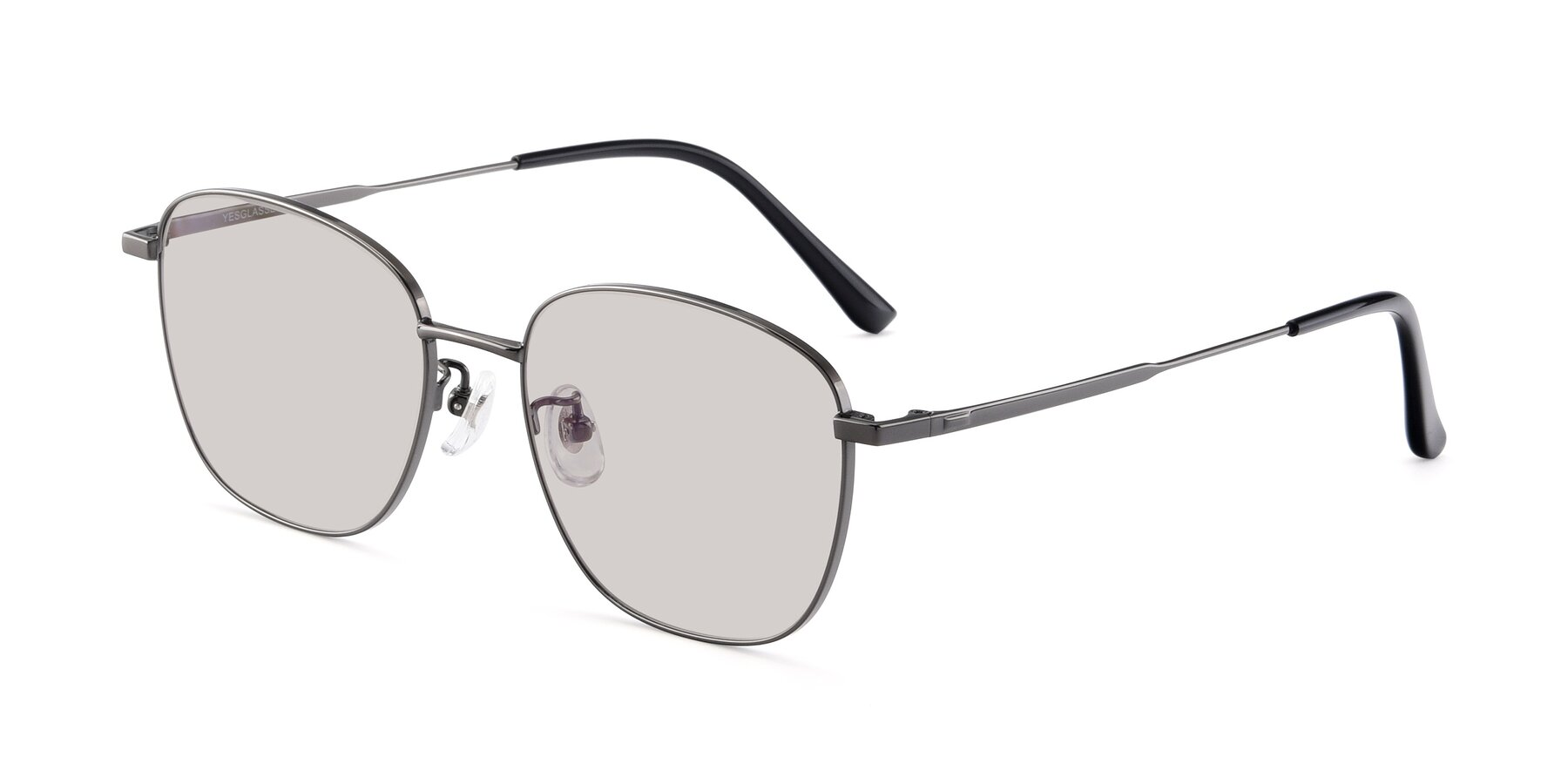 Angle of Tim in Gunmental with Light Brown Tinted Lenses