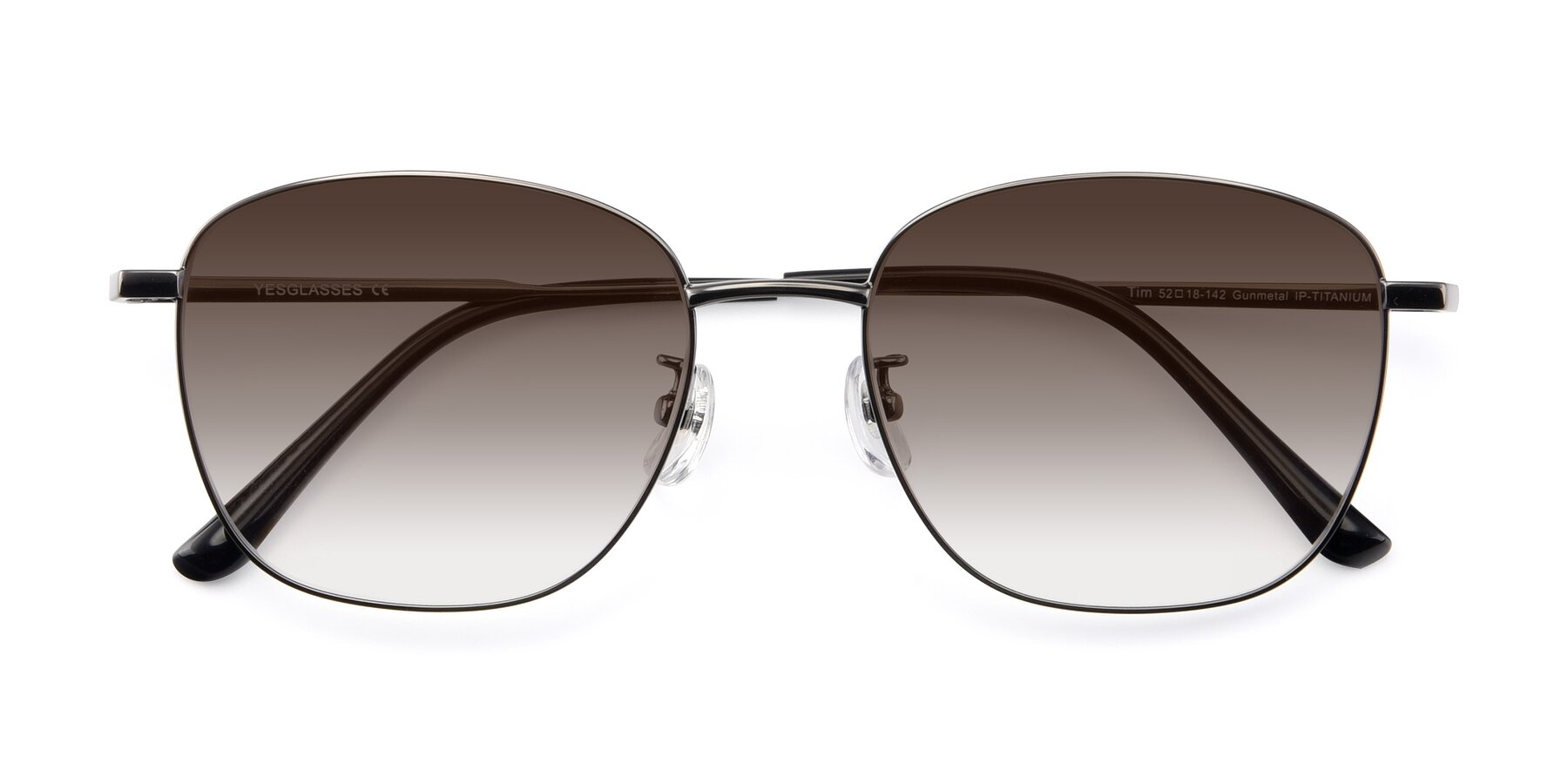 Folded Front of Tim in Gunmental with Brown Gradient Lenses