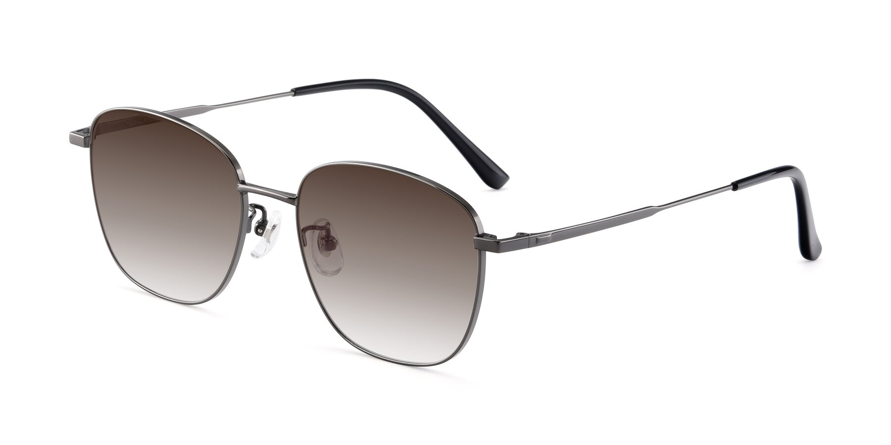 Angle of Tim in Gunmental with Brown Gradient Lenses