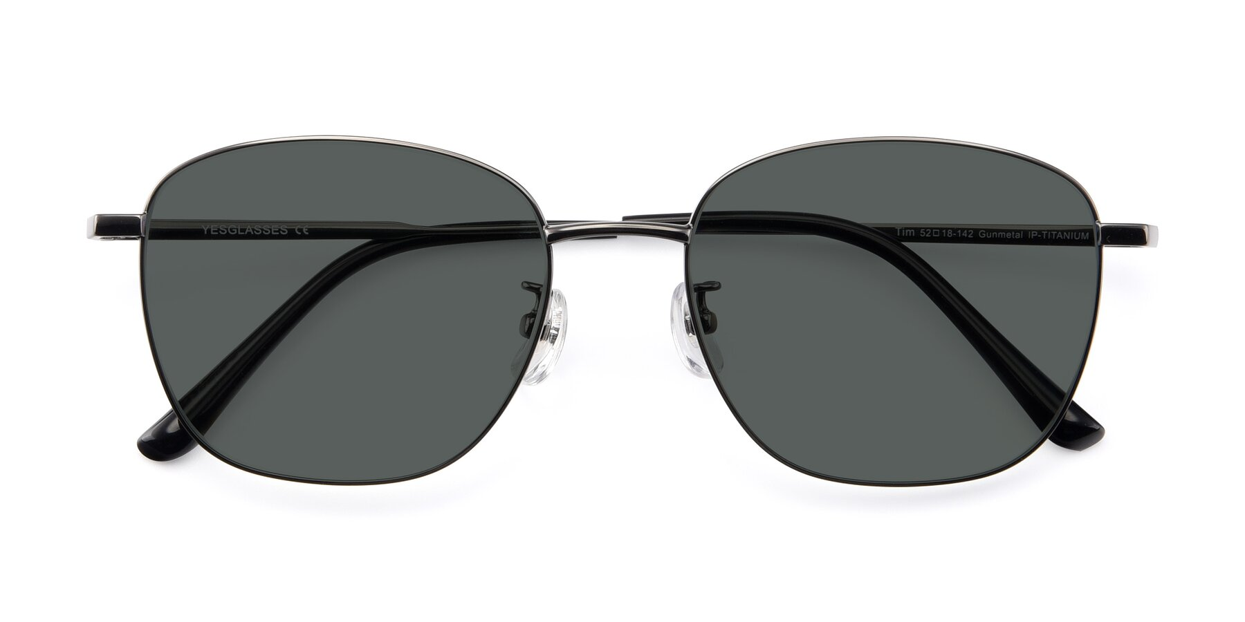 Folded Front of Tim in Gunmental with Gray Polarized Lenses