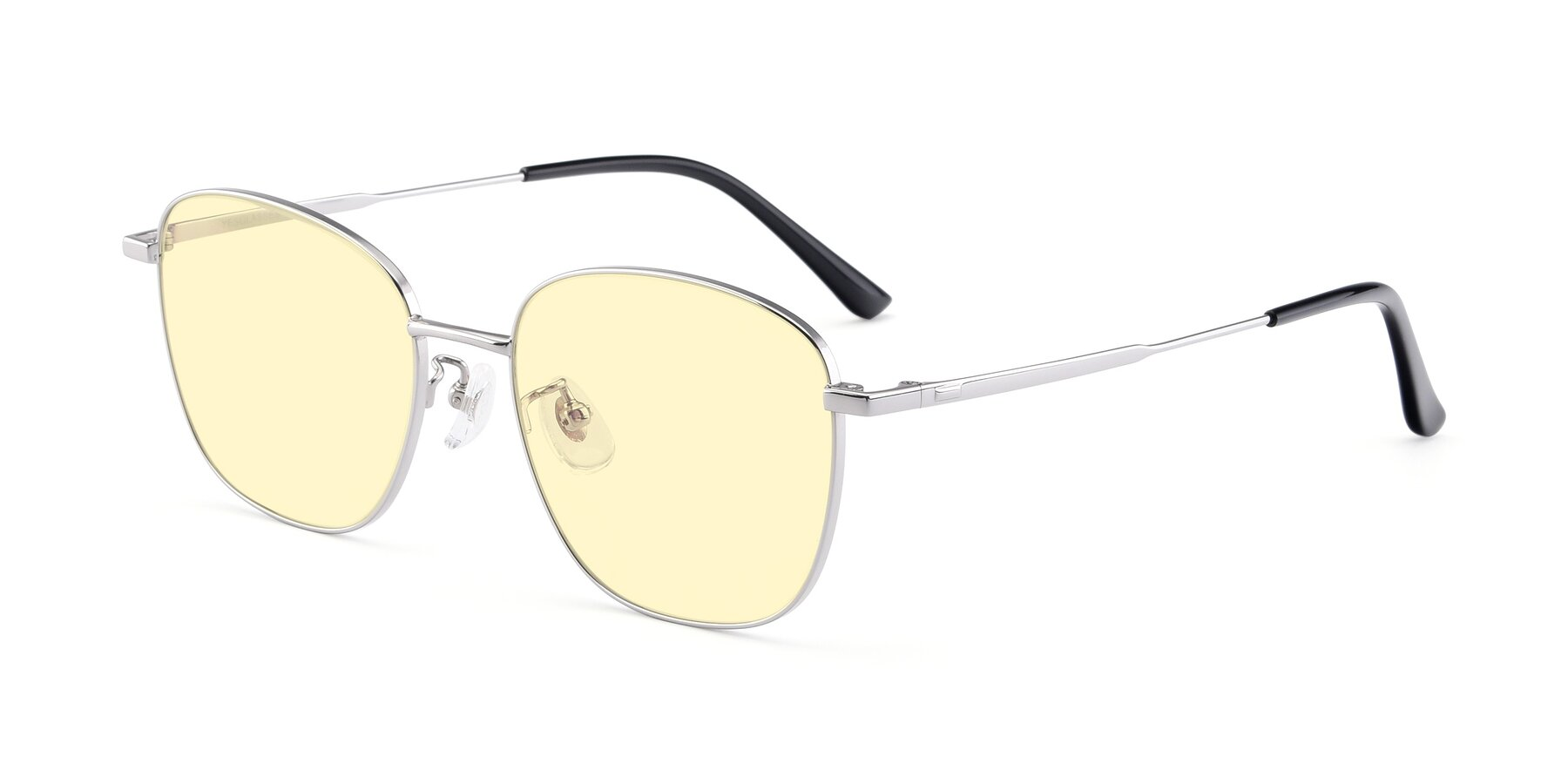 Angle of Tim in Silver with Light Yellow Tinted Lenses