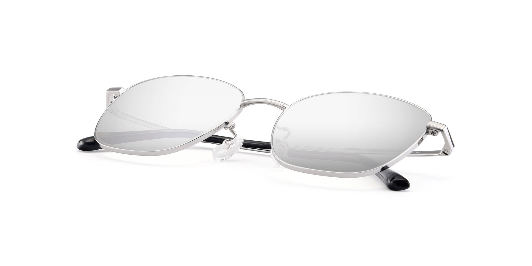 View of Tim in Silver with Silver Mirrored Lenses
