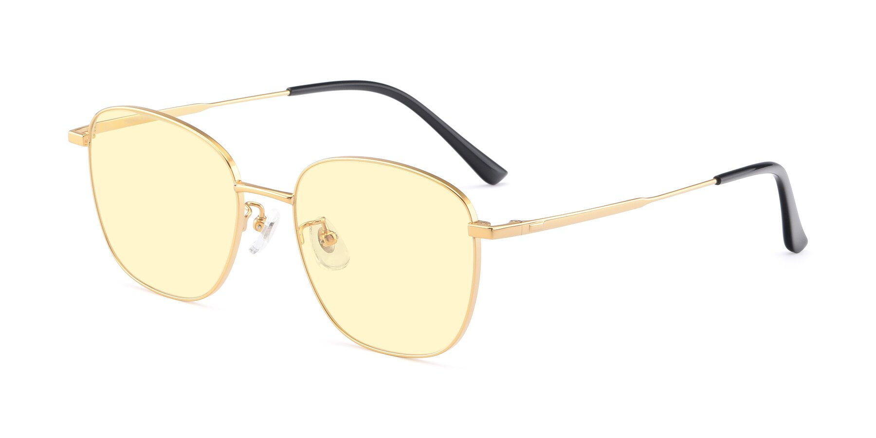 Angle of Tim in Gold with Light Yellow Tinted Lenses