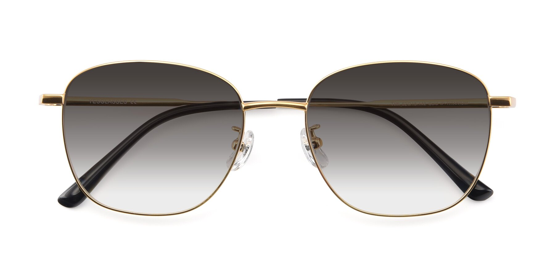 Folded Front of Tim in Gold with Gray Gradient Lenses