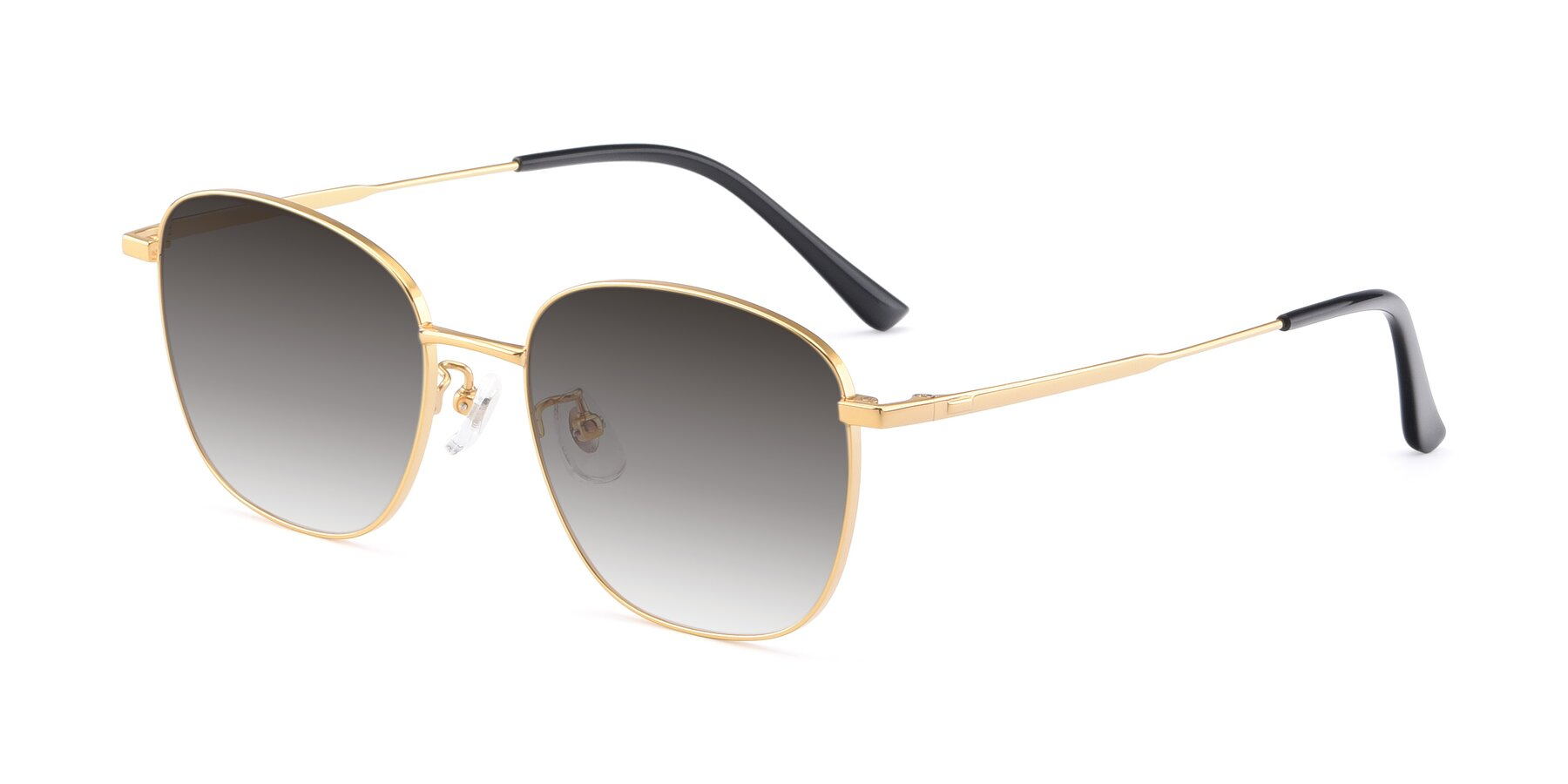 Angle of Tim in Gold with Gray Gradient Lenses