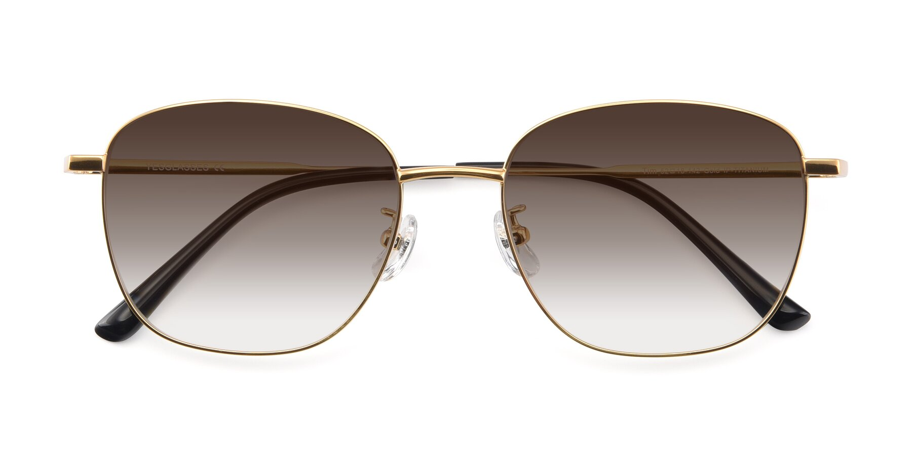 Folded Front of Tim in Gold with Brown Gradient Lenses