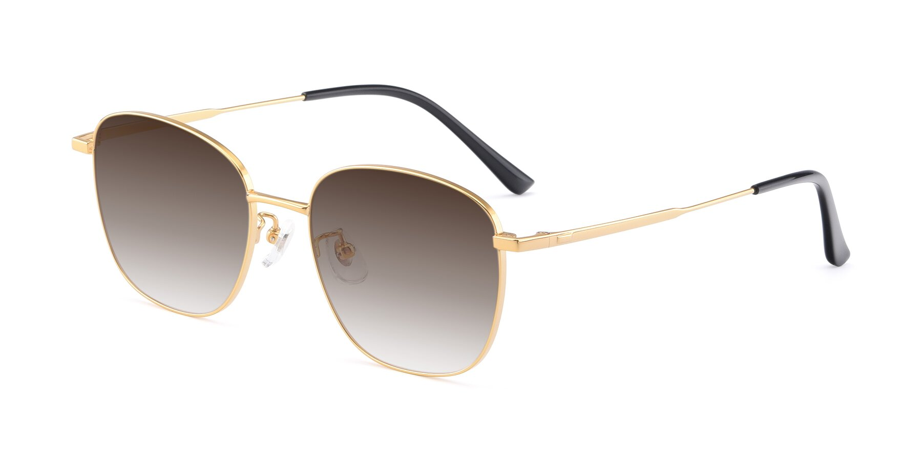 Angle of Tim in Gold with Brown Gradient Lenses