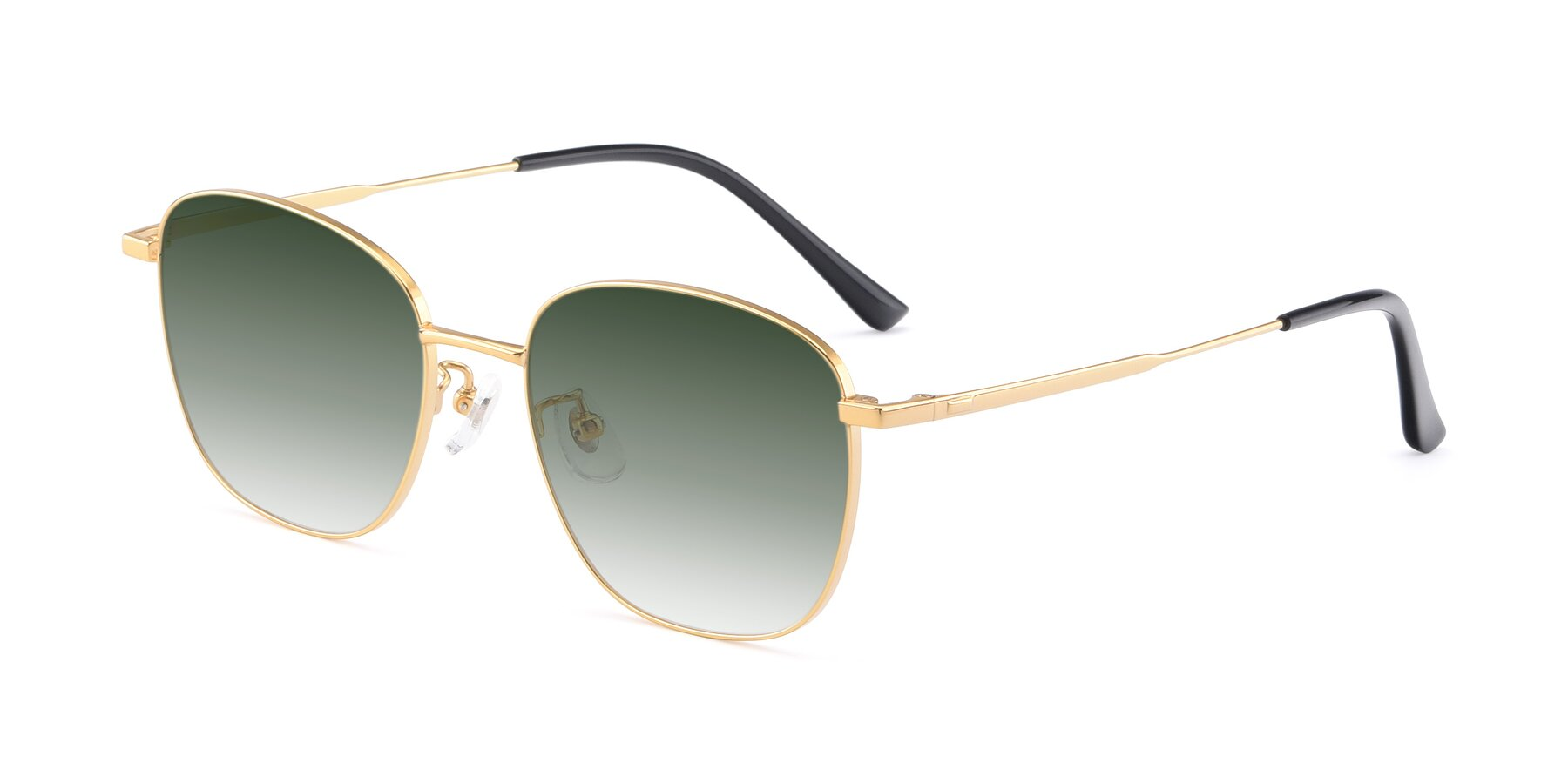 Angle of Tim in Gold with Green Gradient Lenses