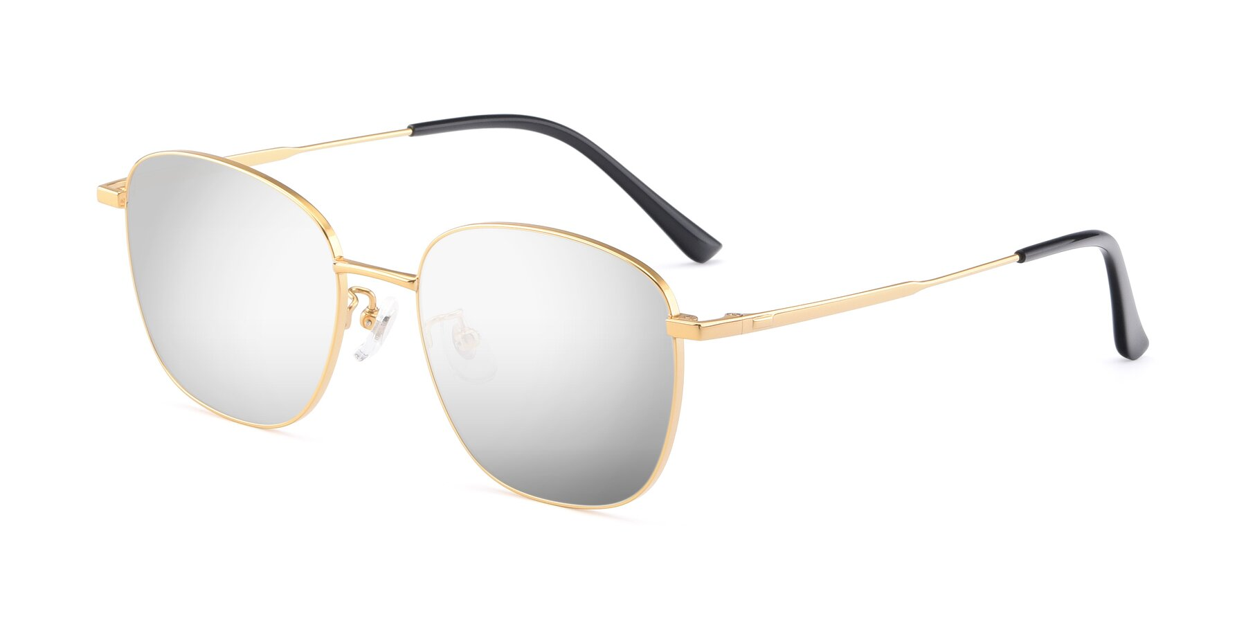 Angle of Tim in Gold with Silver Mirrored Lenses