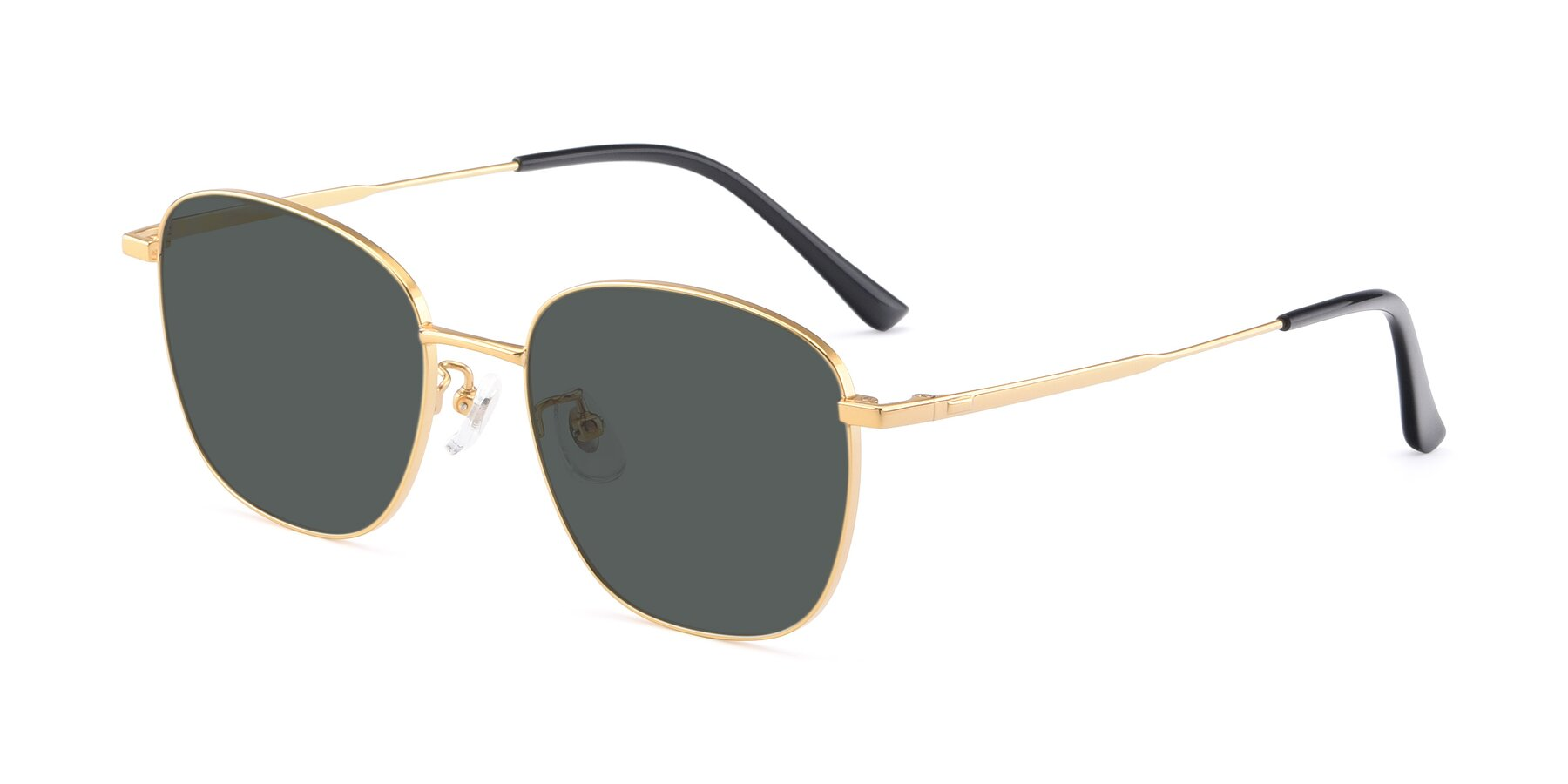 Angle of Tim in Gold with Gray Polarized Lenses