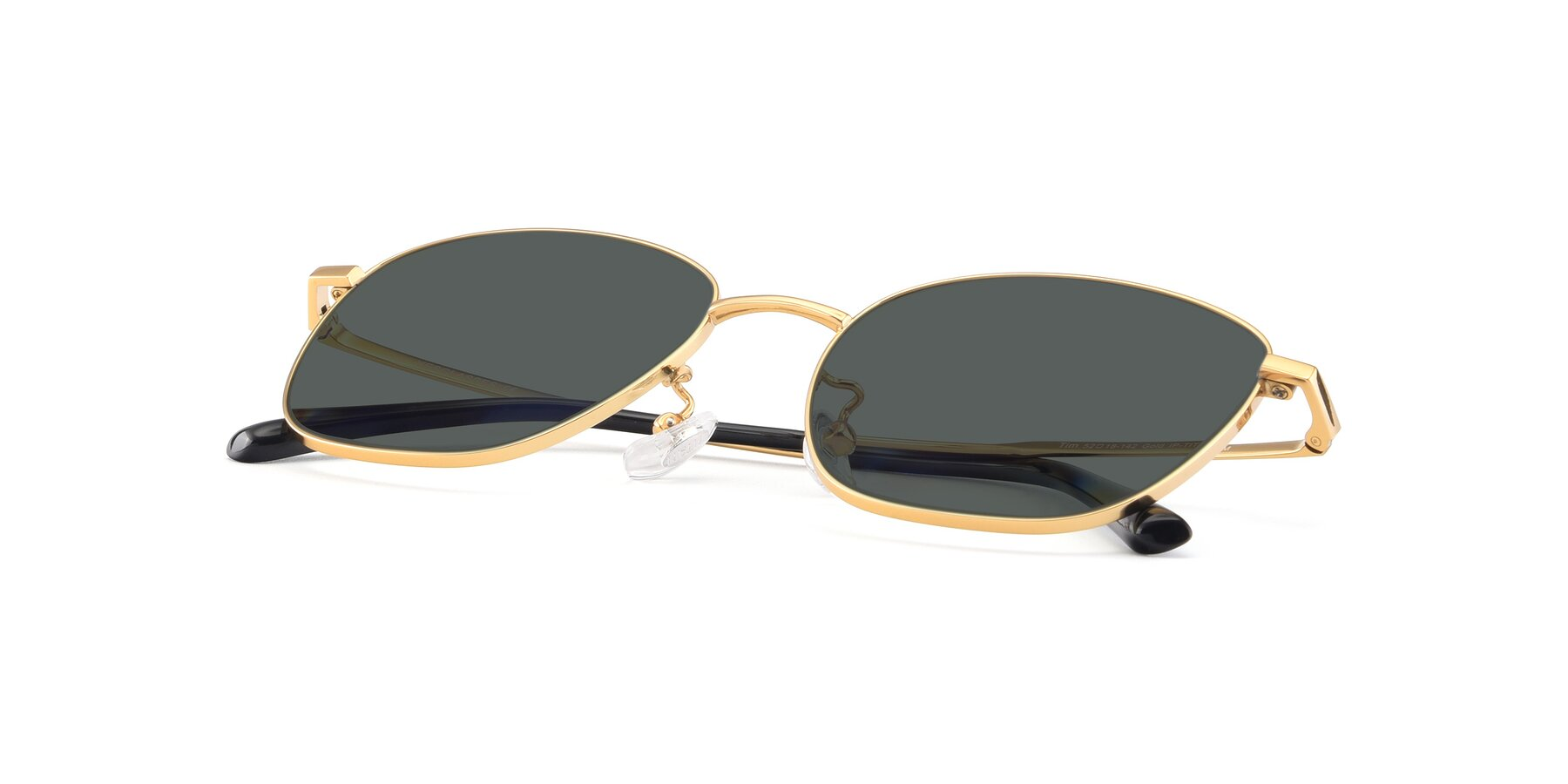 View of Tim in Gold with Gray Polarized Lenses