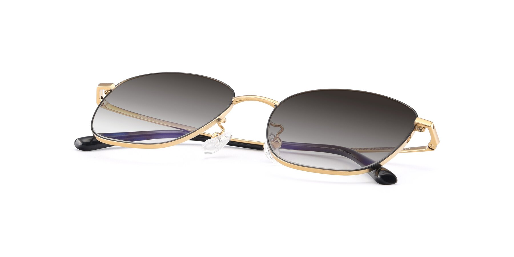 View of Tim in Black-Gold with Gray Gradient Lenses