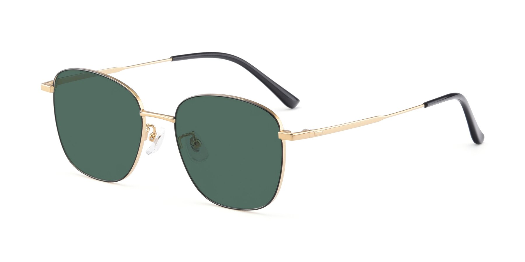 Angle of Tim in Black-Gold with Green Polarized Lenses