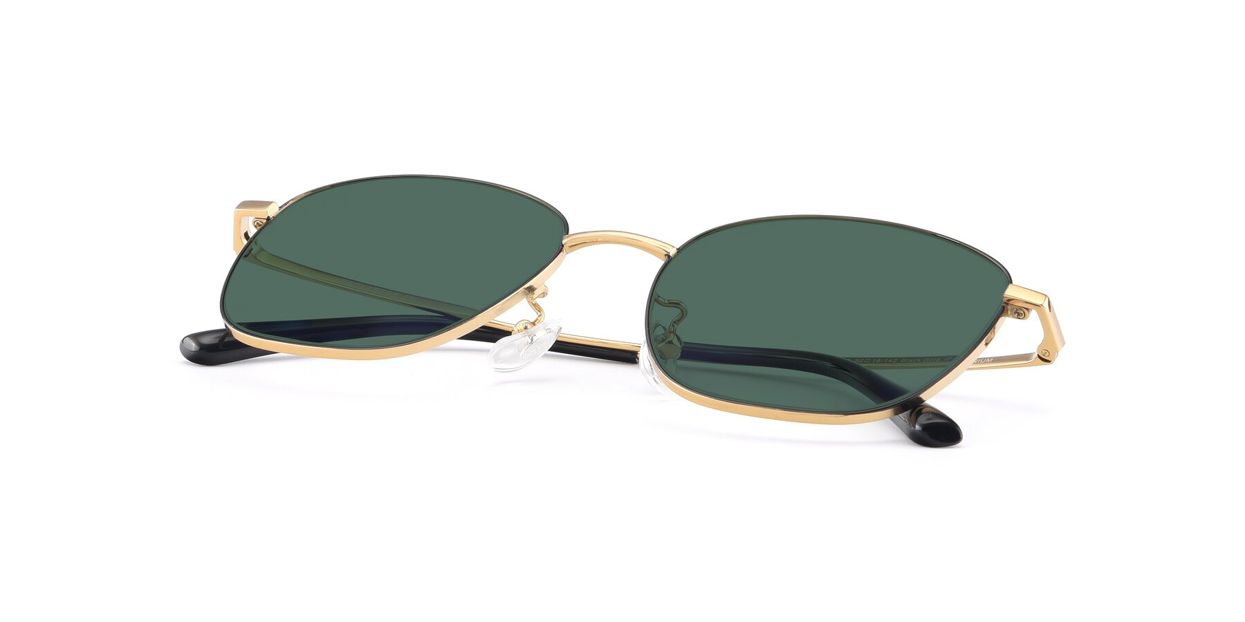 View of Tim in Black-Gold with Green Polarized Lenses