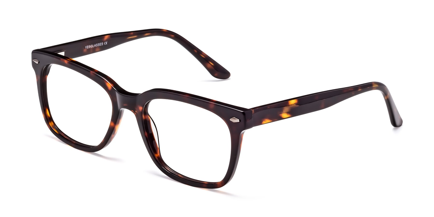 Angle of 1052 in Tortoise with Clear Eyeglass Lenses