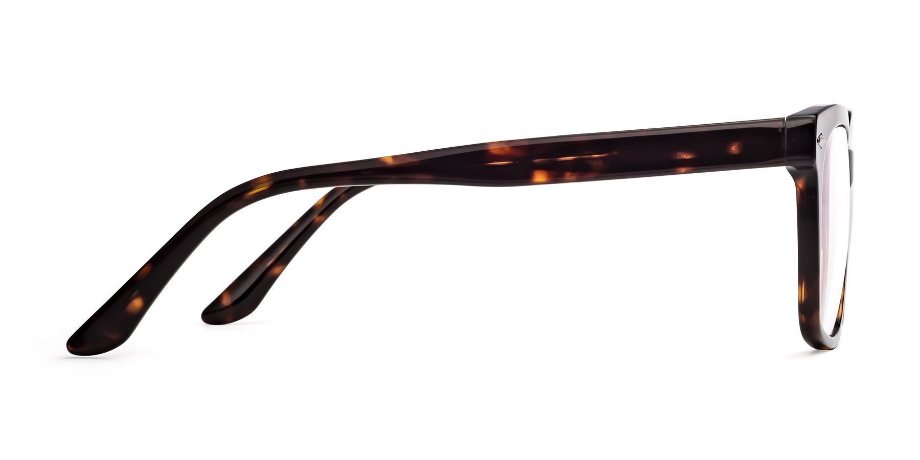Side of 1052 in Tortoise with Clear Eyeglass Lenses