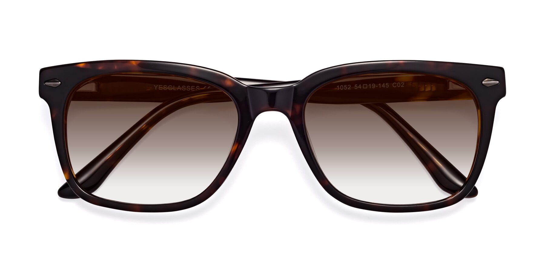 Folded Front of 1052 in Tortoise with Brown Gradient Lenses