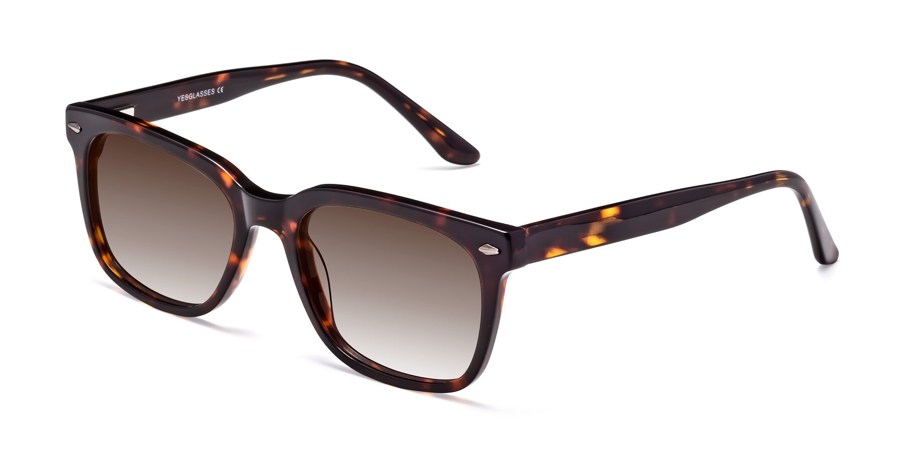 Angle of 1052 in Tortoise with Brown Gradient Lenses