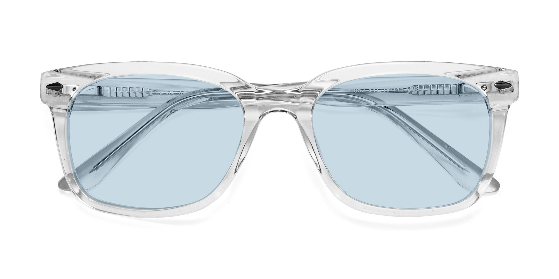 Folded Front of 1052 in Clear with Light Blue Tinted Lenses