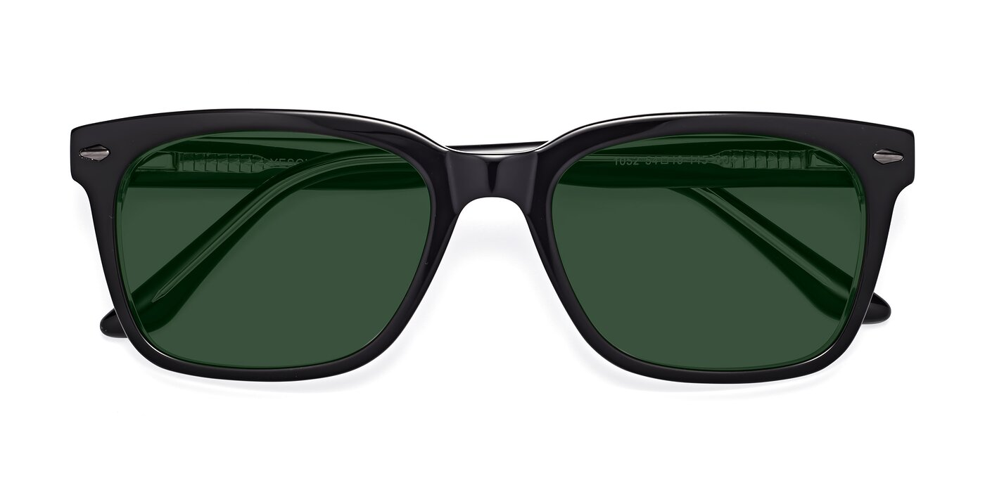 1052 - Black / Clear Tinted Sunglasses