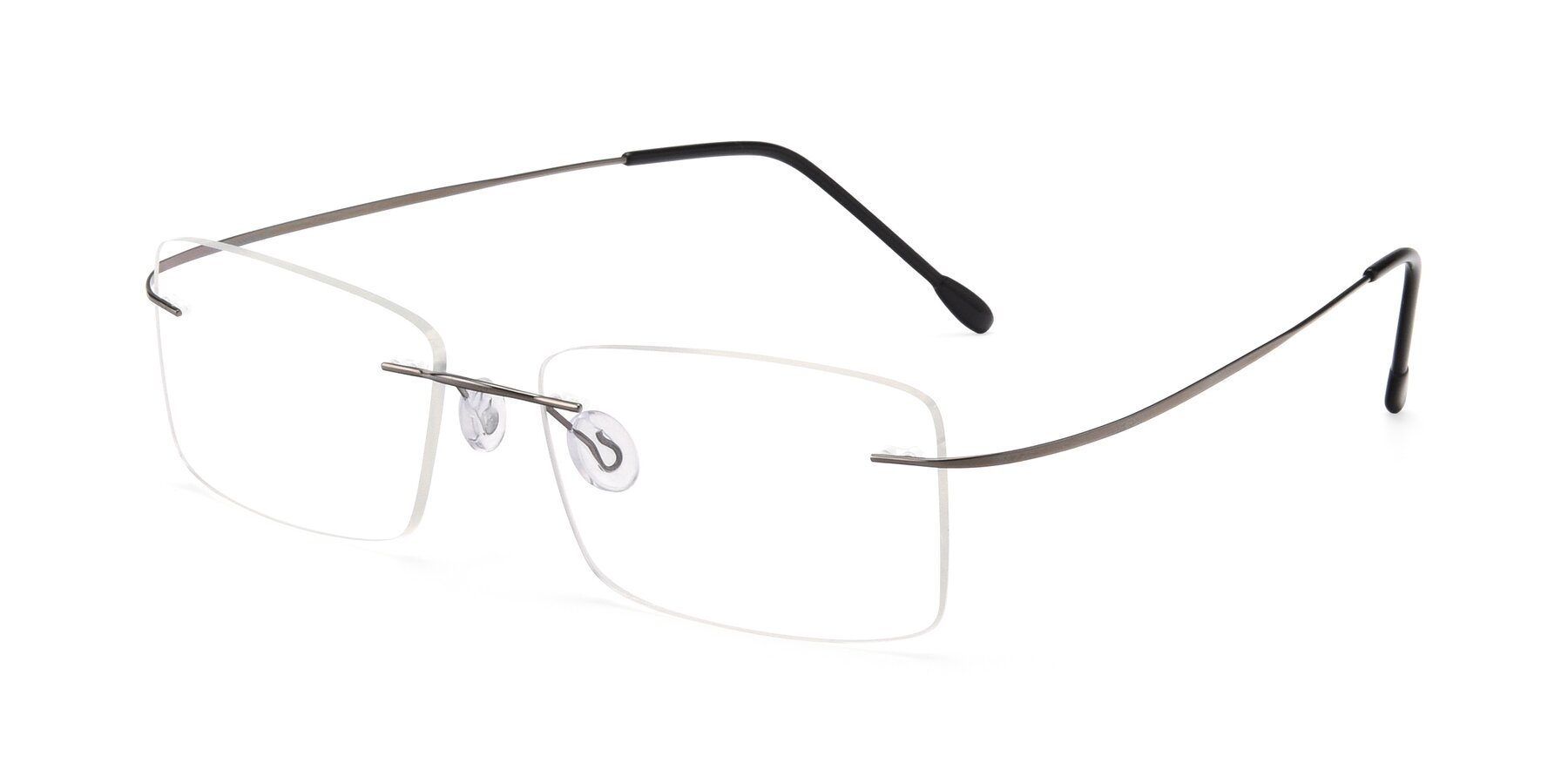 Angle of Wall in Gunmetal with Clear Blue Light Blocking Lenses