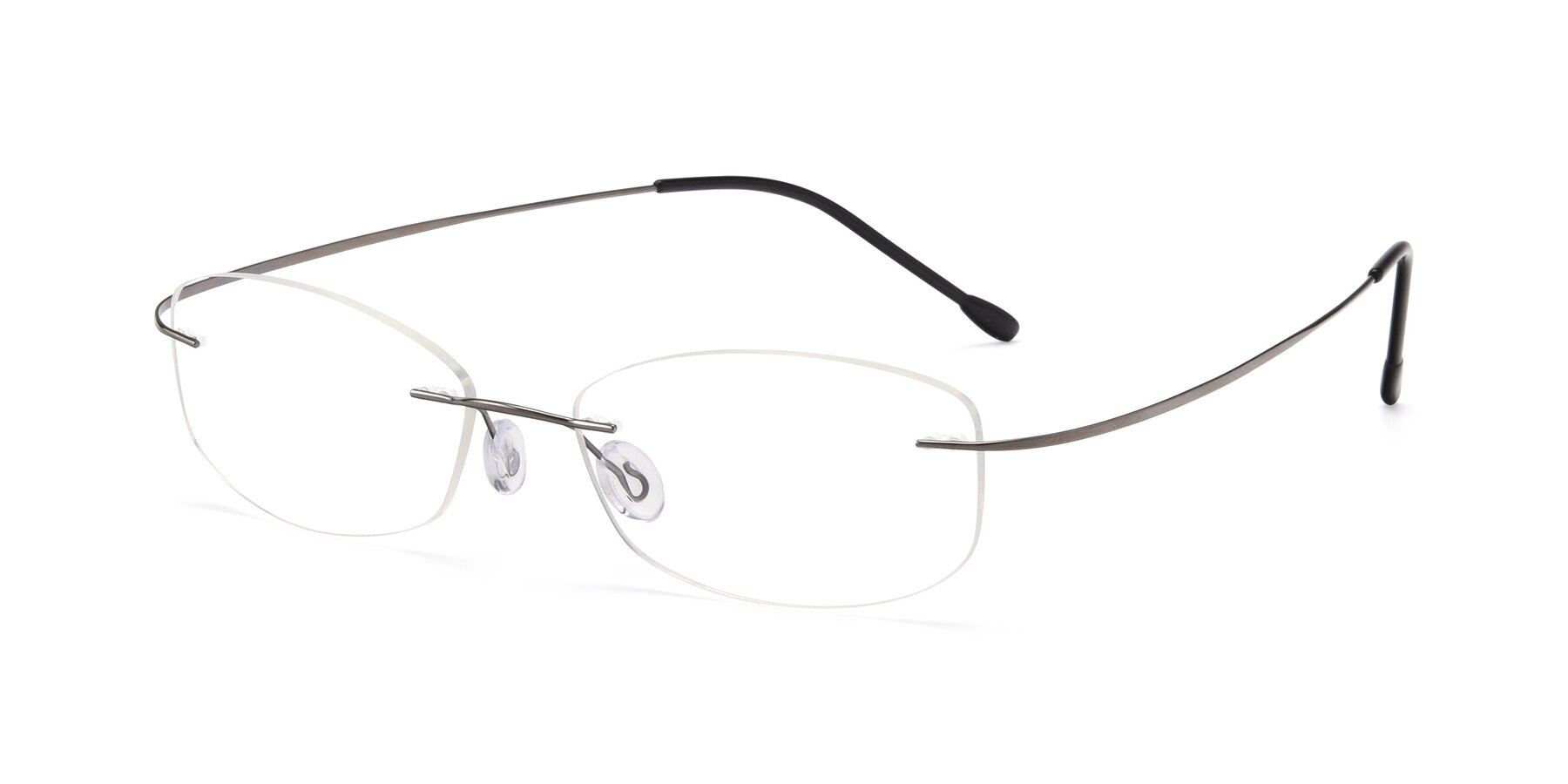 Angle of Cobble in Gunmetal with Clear Blue Light Blocking Lenses