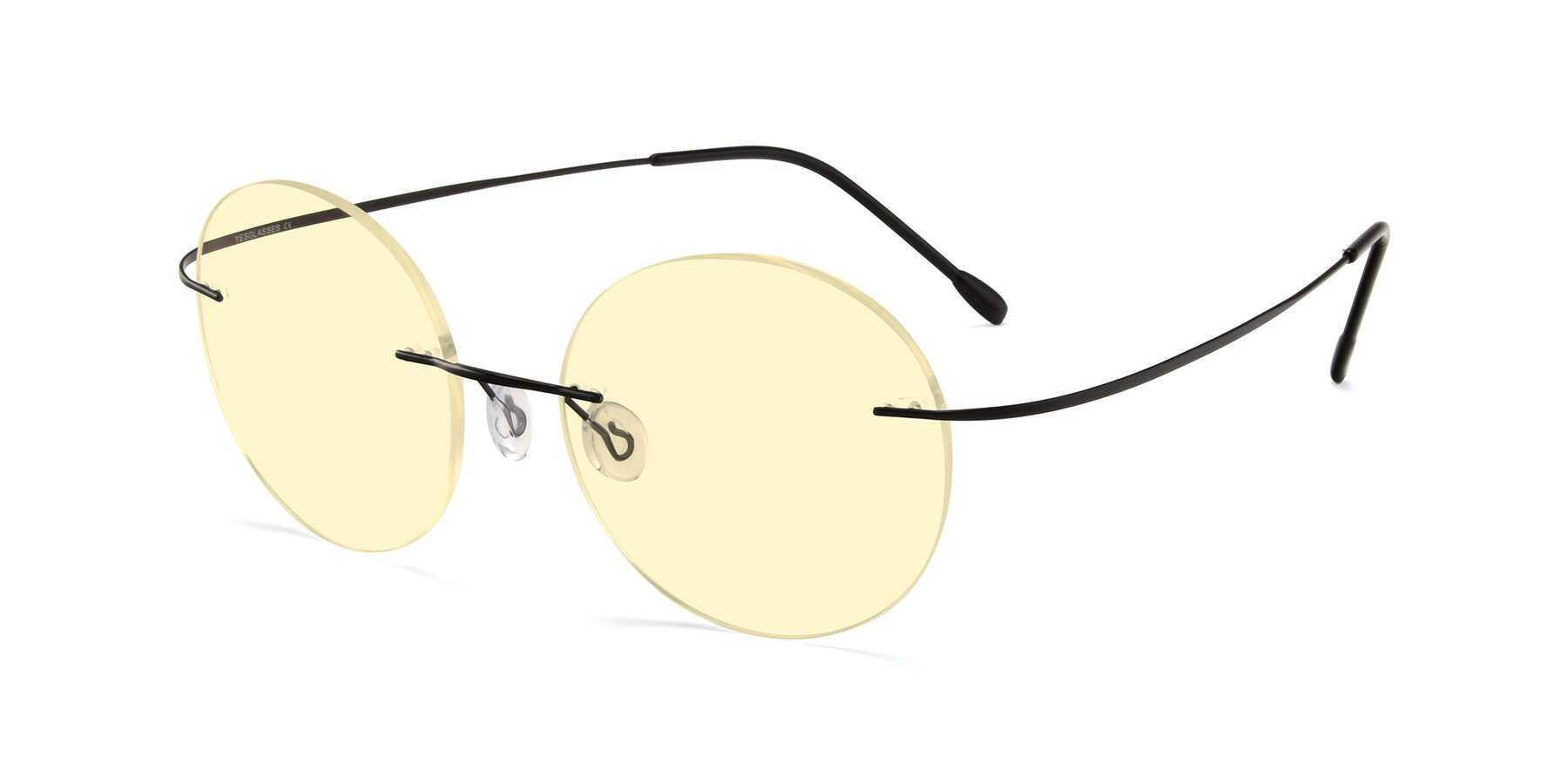 Angle of Leon in Black with Light Yellow Tinted Lenses