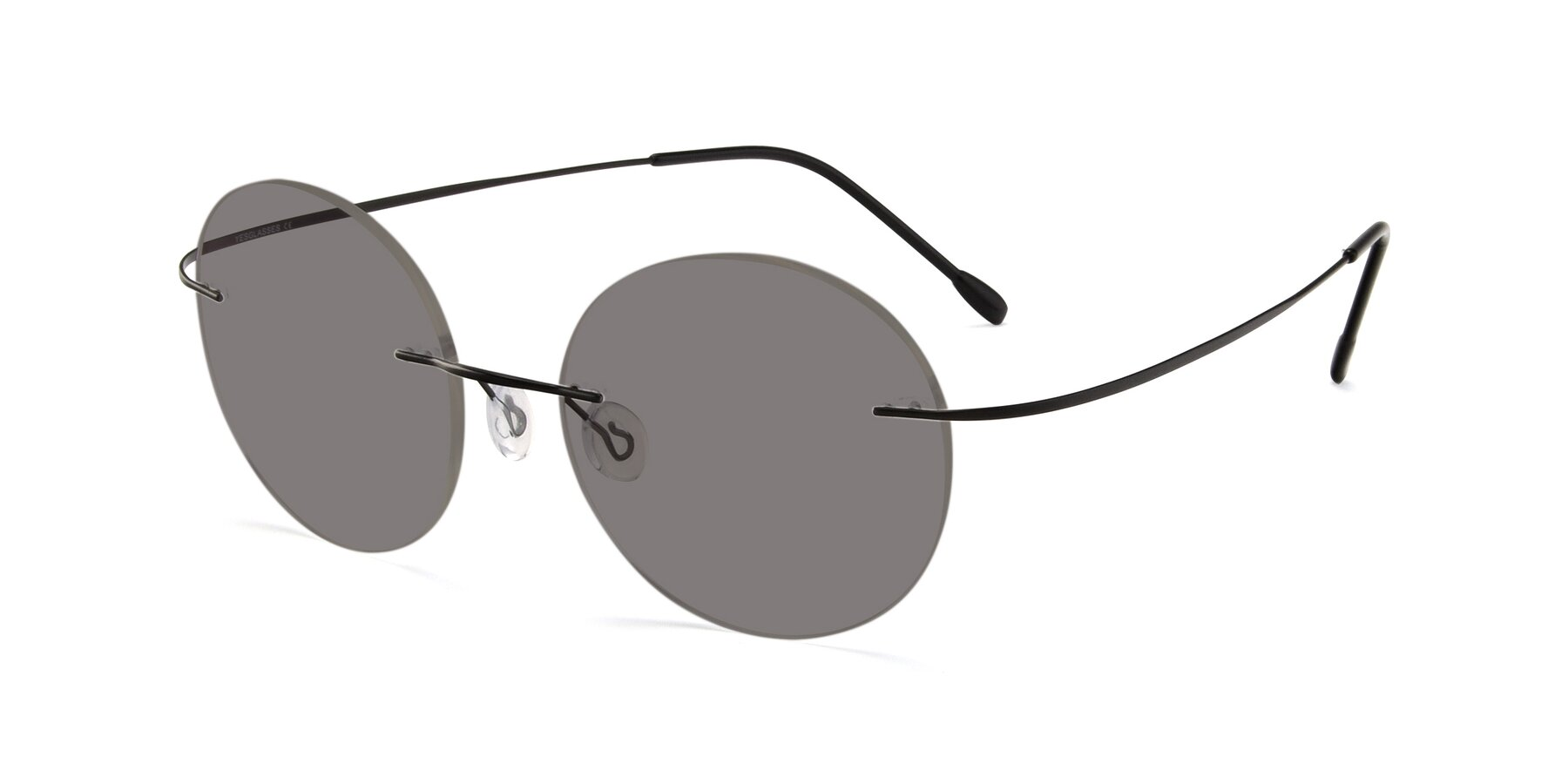 Angle of Leon in Black with Medium Gray Tinted Lenses